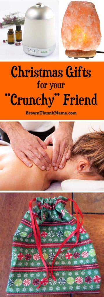 """Have a friend who is SO healthy and SO natural that you can't buy them a gift? Here are fantastic, inexpensive gift ideas for your """"crunchy"""" friend."""