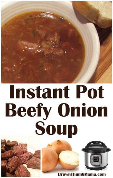 This delicious soup is similar to French Onion Soup–the addition of beef chuck makes it extra hearty and flavorful. It's ready in minutes thanks to the Instant Pot!