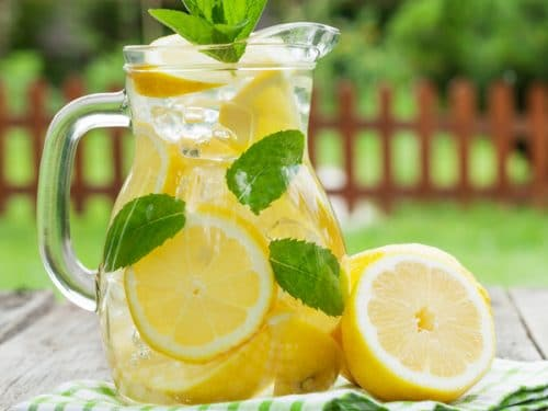 This delicious, homemade lemonade recipe is a burst of tangy and sweet flavor--without corn syrup, artificial flavors, or dyes. A family favorite!