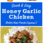 Honey-Garlic Chicken {Better Than Panda Express}