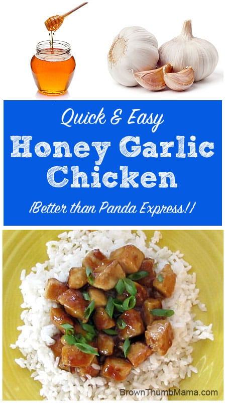 Honey Garlic Chicken--Panda Express copycat recipe: BrownThumbMama.com