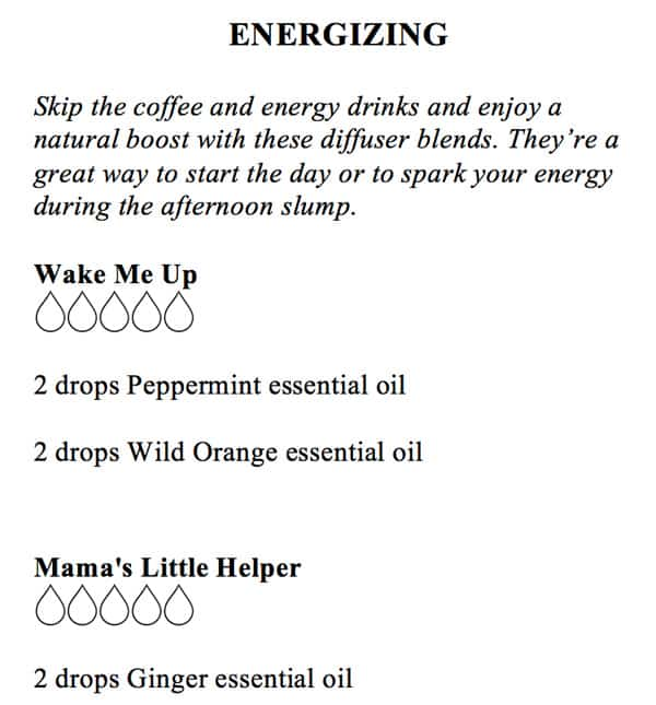 Essential Oil Diffuser Recipes: BrownThumbMama.com