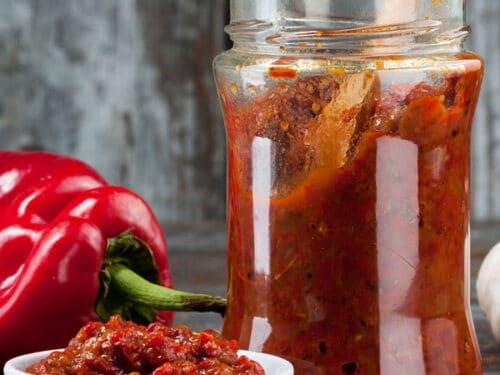 hot sauce in jar