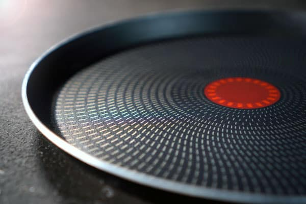 teflon pan on stove
