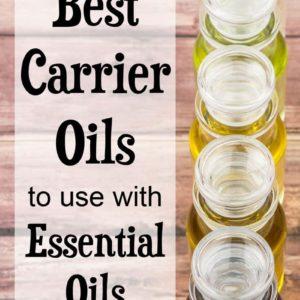 carrier oils in glass bottles