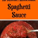 Quick, Homemade Spaghetti Sauce