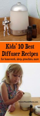 10 Best Essential Oil Diffuser Recipes for Kids: BrownThumbMama.com