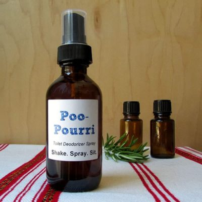 Keep your bathroom smelling fresh with this easy copycat recipe for poo pourri spray. Spray it in the bowl before you go and nobody will ever know!
