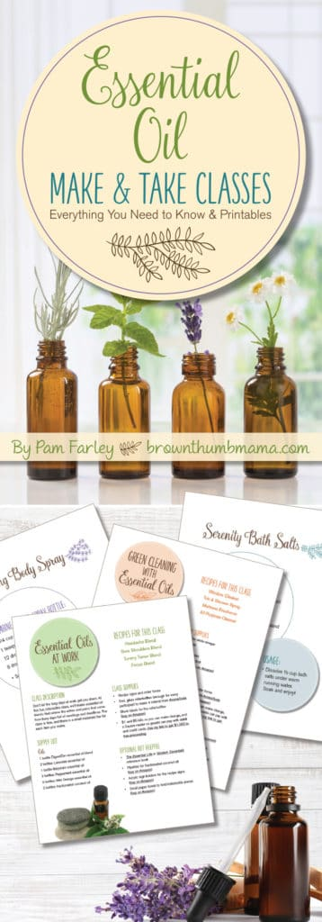 Everything you need to have a fun essential oil party with your friends! Complete instructions for 4 different essential oil DIY classes, printable recipes, and more.