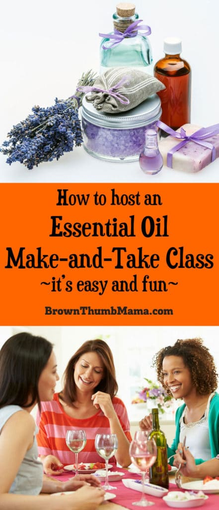 how to host an essential oil make and take class