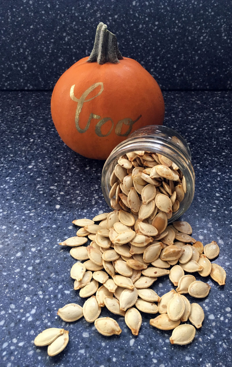 Whether you grow pumpkins in your garden or carve them for Halloween, this recipe for easy roasted pumpkin seeds makes a crunchy, nutritious snack.