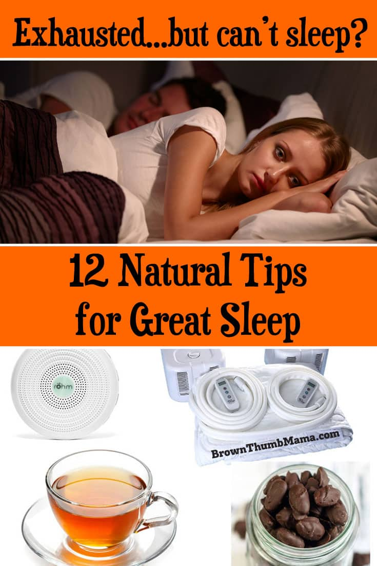 12 natural tips for great sleep. Fall asleep without taking pills, and get back to #sleep quickly if you wake up. #insomnia #natural