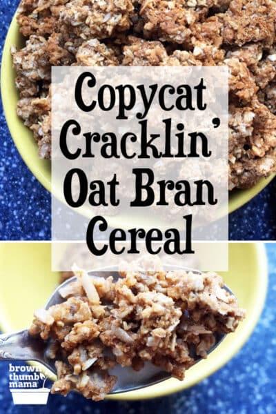 copycat Cracklin' Oat Bran cereal