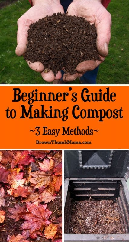 You don't have to buy compost for your garden. With a little bit of space and a little bit of time, you can make compost yourself, with almost no effort at all. #gardening #organicgardening #growyourown #brownthumbmama #compost