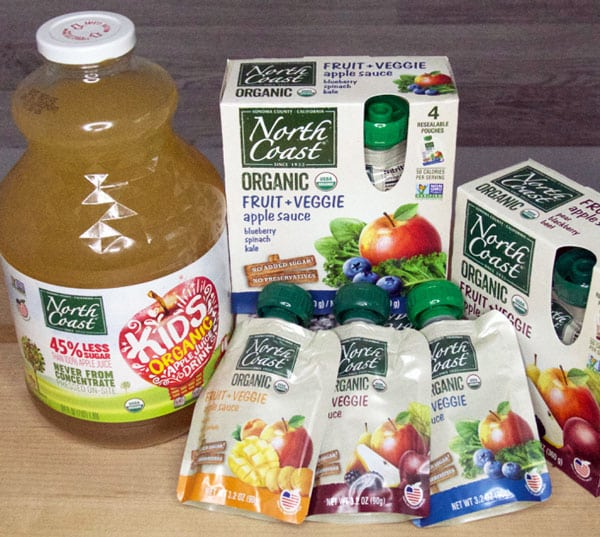 apple juice and applesauce pouches