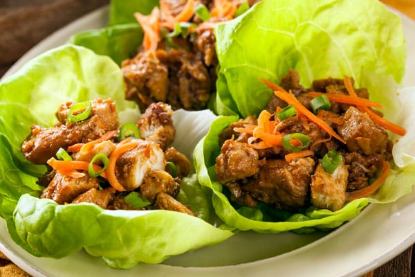 lettuce wraps on plate