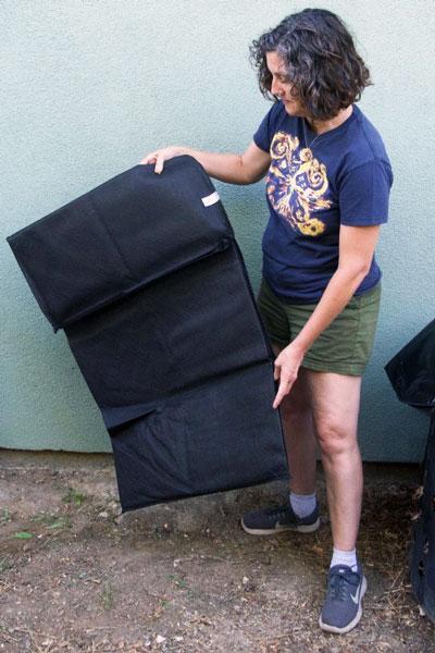 unfolding compost sak