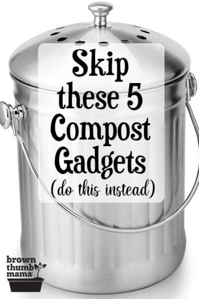 silver kitchen compost bin
