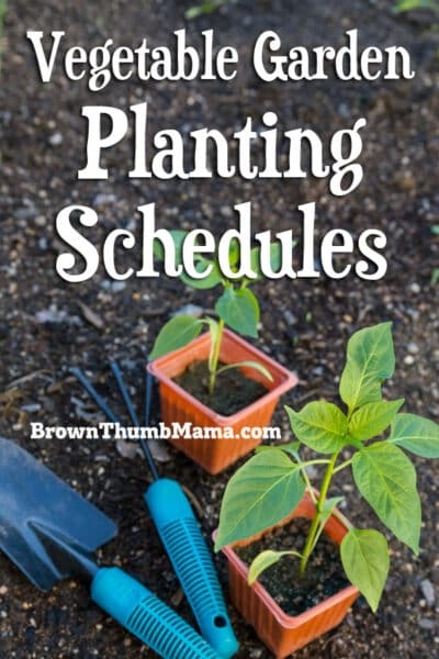 Vegetable gardening is easy with these customized schedules that tell you exactly what to plant each month. #gardening #organicgardening #vegetablegarden