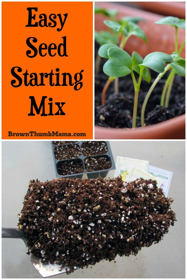 Start your vegetable and flower seeds the right way, with this easy, homemade seed starting mix. Combine 3 simple ingredients to get your seeds off to the very best start!