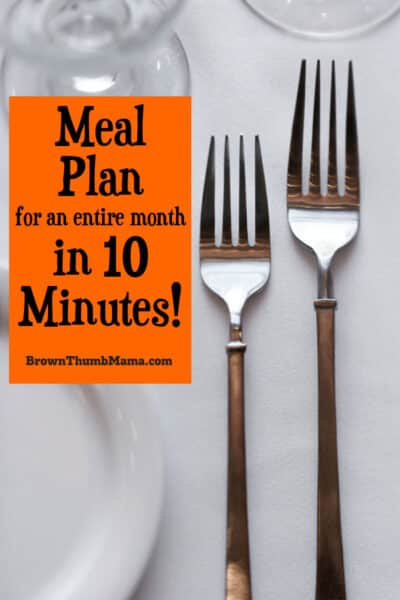 You can make a meal plan for an entire month in 10 minutes with these easy tips!