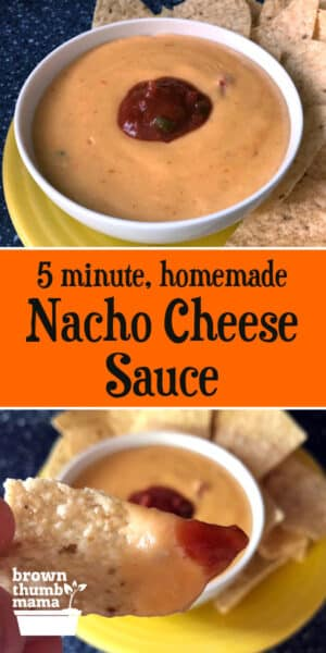 This amazing, creamy nacho cheese sauce is ready in 5 minutes—without Velveeta!—and is delicious with chips, vegetables, or pasta.