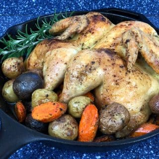 Perfect Roast Chicken & Sides in 30 Minutes