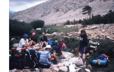 backpackers on Mt. Whitney