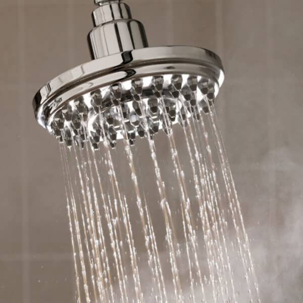 shower with warm water