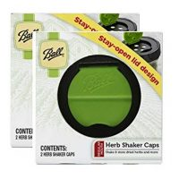 Ball Herb Shaker Plastic Lids 2 Per Package (2 Pack)