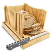 Foldable Bread Slicer with Crumb Catcher Tray