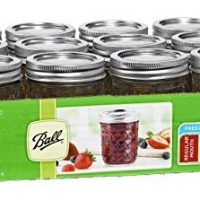 Ball Jar Crystal Jelly Jars with Lids and Bands, 8-Ounce, Quilted (2-Pack of 12)