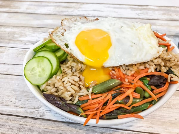 Meatless Monday: Egg, Vegetable & Rice Bibimbap