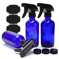 Blue Glass Spray Bottles 8oz Cobalt Blue