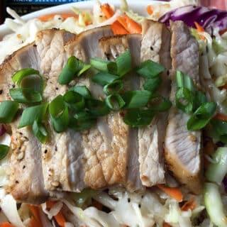 Easy Asian Pork Wraps or Bowls