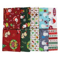 Christmas Fabric Assortment, 100% Cotton, 18 x 22 inches