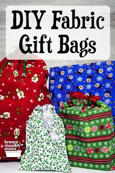 colorful fabric gift bags