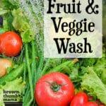 vegetables soaking in sink full of water