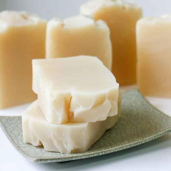 bars of castile soap on plate