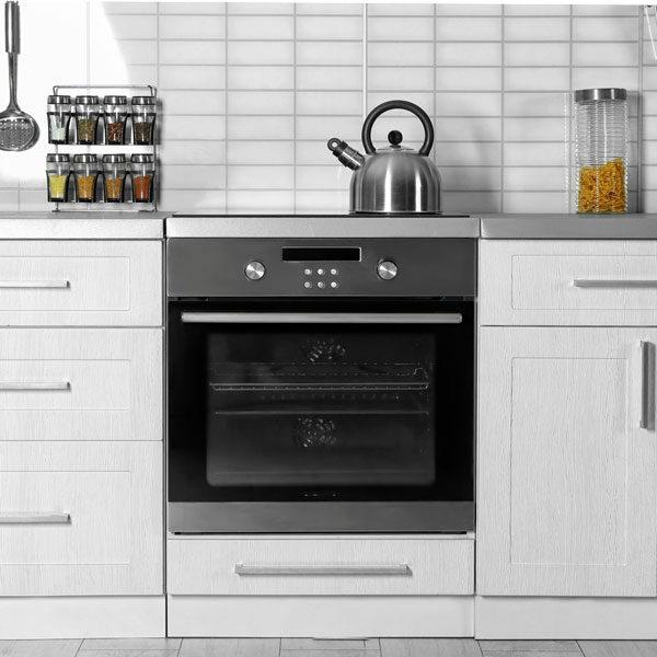 modern oven in white kitchen