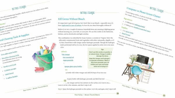 pages from natural cleaner book