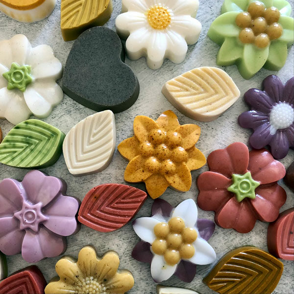 colorful homemade soaps