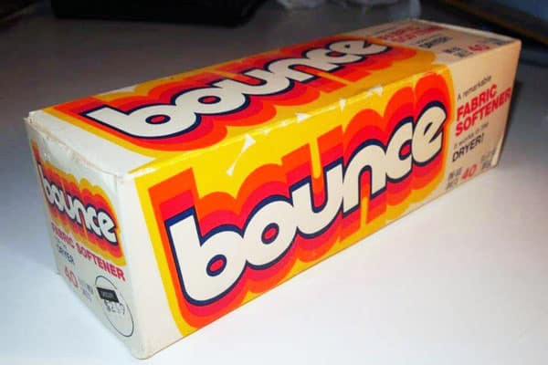 vintage box of bounce